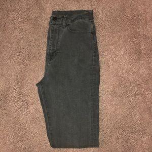 High waisted black skinny jeans